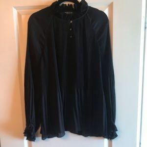 Banana Republic pleated blouse